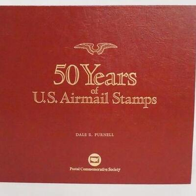 103150 YEARS OF U.S AIRMAIL STAMPS ALBUM. ALBUM IS COMPLETE & CONTAINS 94 HISTORIC U.S AIRMAL STAMPS PERSERVED ON SPECIAL COMMEMORATIVE...