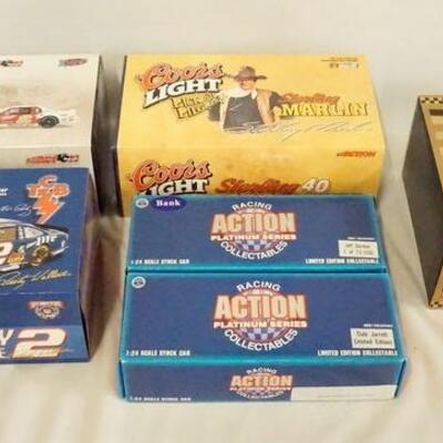 1080LOT OF SIX ACTION COLLECTABLES LIMITED EDITION 1:24 SCALE NASCAR MODEL CARS IN ORIGINAL BOXES.