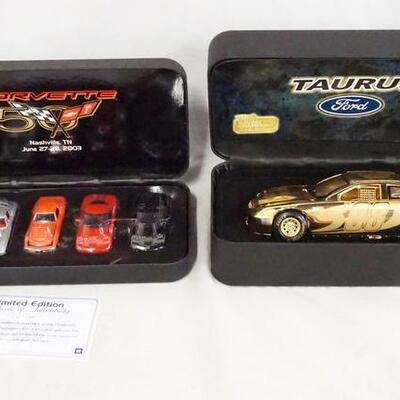 1075RACING CHAMPIONS NASCAR/CORVETTE 50TH ANNIVERSARY LOT. LOT INCLUDES A LIMITED EDITION SET OF 5 1:64 SCALE CORVETTE MODEL CARS IN...