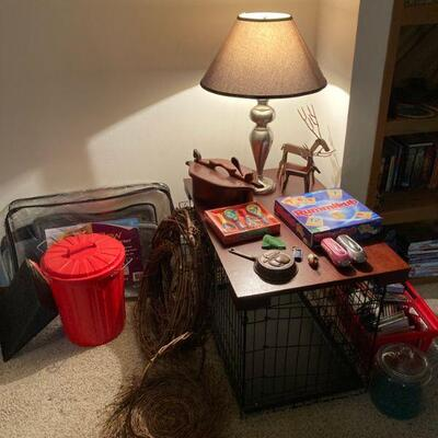 Why not make a dog crate into an end table