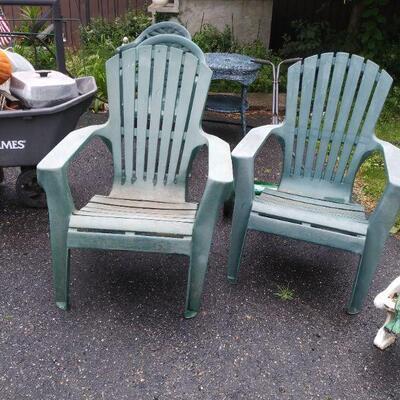 Green Yard / Patio Chairs