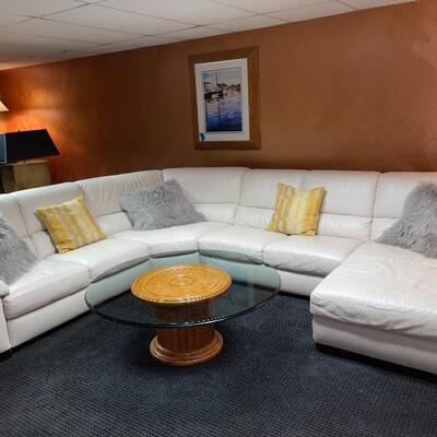SOLD  Gorgeous Natuzzi Leather Sectional  Pre-Selling $1,750.00
