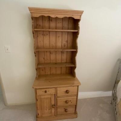 Rare Irish pine dresser - comes in two pieces