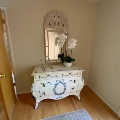 Exquisite hand painted hallway table