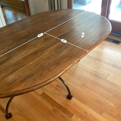 Farm. Table. With wrought iron axe -oval