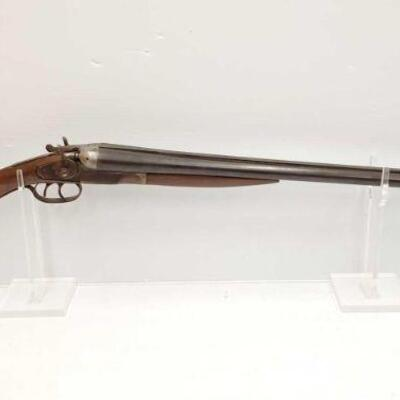 #726 • Hopkins&Allen Double Barrel 12 GA Shotgun SERIAL # 1301 BARREL 28