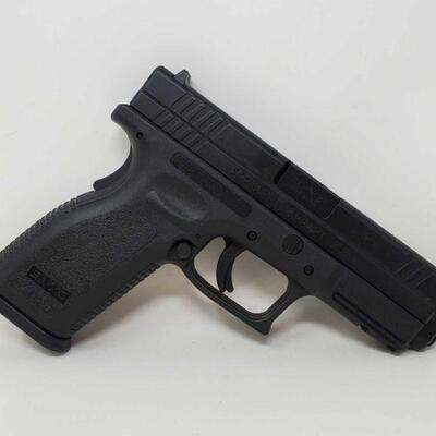 #408 • Springfield Armory XD 9mm Semi-Auto Pistol - CA OK SERIAL NO BY586238 BARREL LENGTH 4