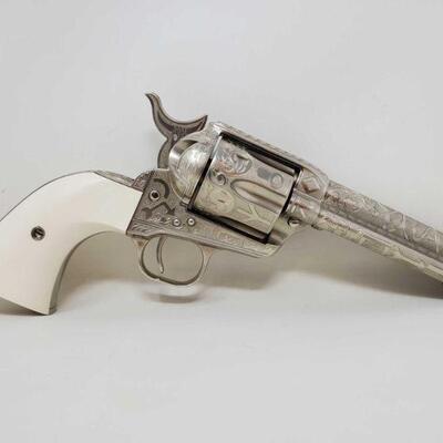 #508 • Colt Single Action Army Engraved .45 Revolver - CA OK. Barrel Length: 4.75