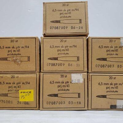 #828 • Approx 140 Rounds Of 6.5 mm