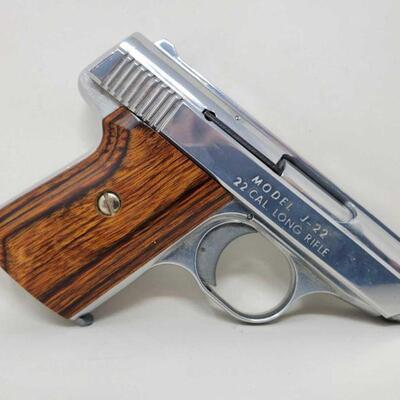 #412 • Jennings Firearm J-22 .22lr Semi-Auto Pistol - CA OK - NO CA SHIPPING. CA OK NO CALIFORNIA SHIPPING,  SERIAL NO. 141193 NINCLUDES...
