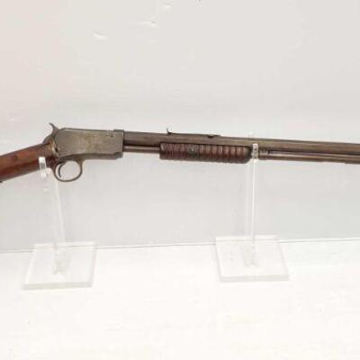 #626 • Winchester 1890 .22 WRF Pump Action Rifle. Serial Number: 477252 Barrel Length: 24