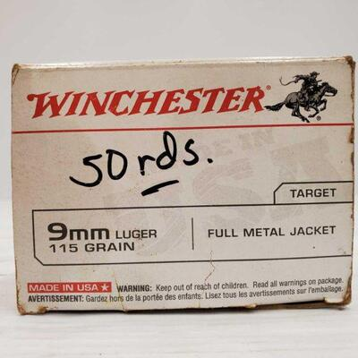 #832 • Approx 50 Rounds Of 9mm Luger