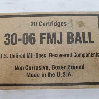 836 • 20 Rounds Of 30-60 FMJ Ball
