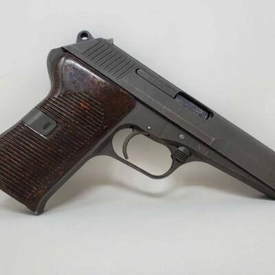 #414 • Czech CZ-52 7.62X25mm Semi-Auto Pistol - CA OK SERIAL NO LB2629 BARREL 4.5