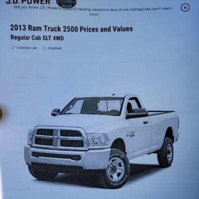2013 Dodge Ram 2500 Pickup Truck with 100k Miles