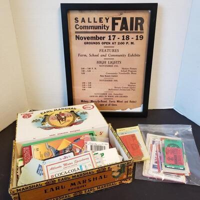 Includes framed Salley Community Fair Ad (measures 13