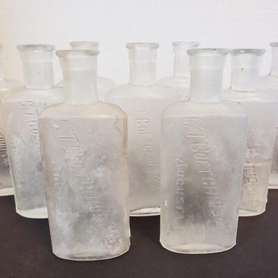CT Coetchius & Bro. Augusta, GA Medicine Bottles. Tallest measures 5 1/2