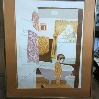 https://www.ebay.com/itm/114855432476CF7015 B CHILD IN THE BATHROOM ORANGE WITH MATTE (24.5 X 30 5/16 IN)Buy-It-Now $29.99
