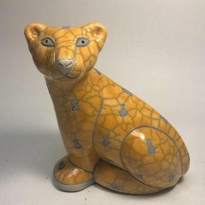 https://www.ebay.com/itm/124808681338ME7011 South African Raku Pottery Cheetah Figurine (Large)
