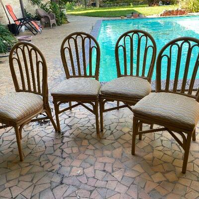 https://www.ebay.com/itm/124815337654oR9010 4 Tan Rattan Dinning Room Chairs UShip or Local Pickup