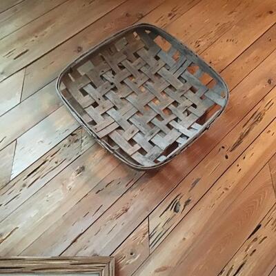 Vintage tobacco basket
