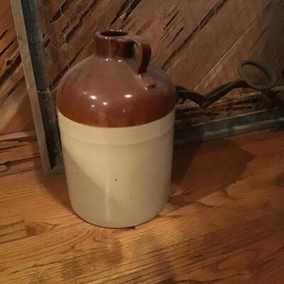 Stoneware whiskey jug pottery