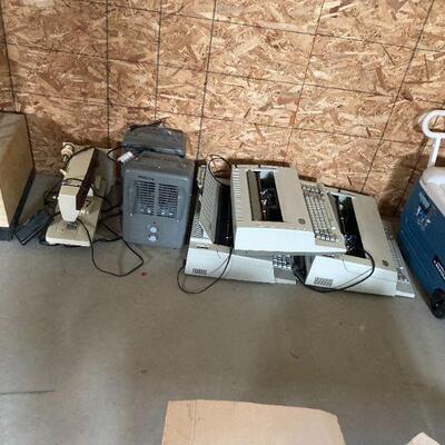 space heaters and IBM Personal Wheel writer typewriters