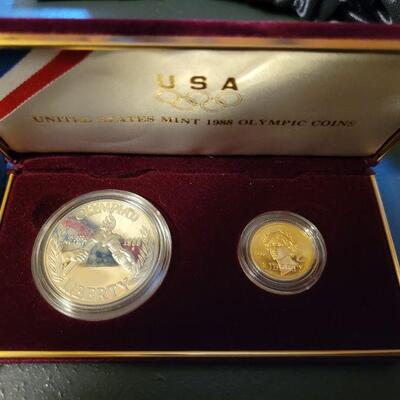 1988 olympic gold and silver coin set