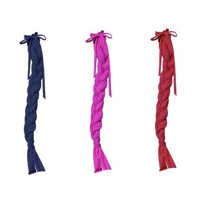148  (4) Showman ® Durable Lycra® braid-in tail bags Features 3 divided slots that help keep hair from tangling while braided. Draw...