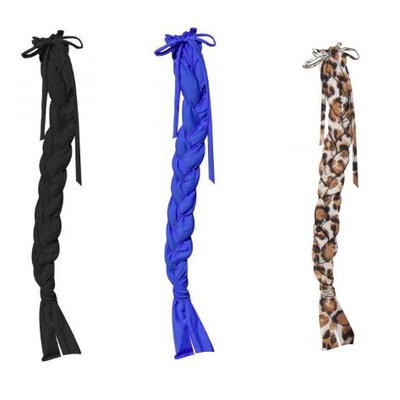 147  (3) Showman ® Durable Lycra® braid-in tail bags Features 3 divided slots that help keep hair from tangling while braided. Draw...