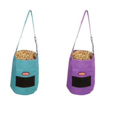 150  Showman ® Nylon Feed Bag. Ideal for feeding hay cubes and horse grain during trail riding and shows. Made from heavy nylon with...