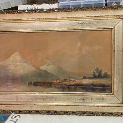 https://www.ebay.com/itm/124841992275ME7075 AL Barnes Gouache on Board Original Art Local Pickup Mountain Side