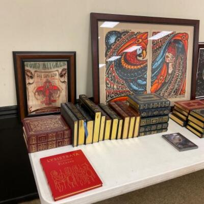 Easton Press and Signed/Numbered Widespread Panic Posters