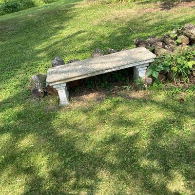 early cement bench with great surface