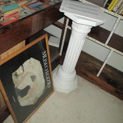 Pedestals and more books
