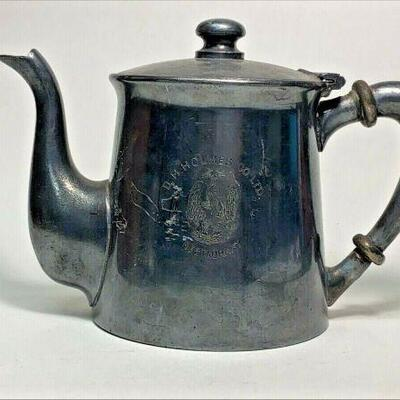 https://www.ebay.com/itm/114918154961CC0066 SILVERPLATED TEA POT FROM D.H.HOLMES CO. LTD. RESTAURANT