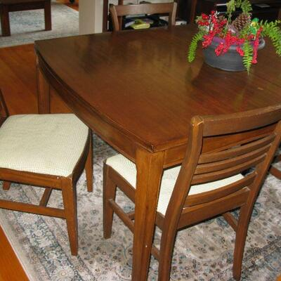 MCM DINING ROOM TABLE, CHAIRS AND LEAVES                              BUY IT NOW $  285.00