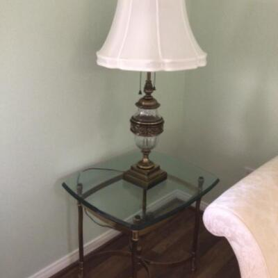 Glass top table $20