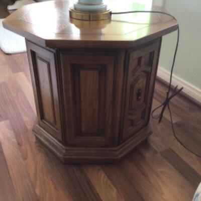 drum table with door, $15