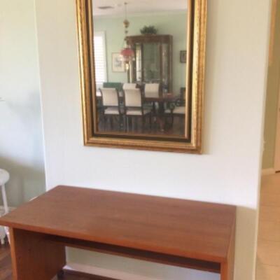 Desk, $15 Mirror $20