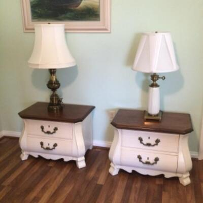 Pair of tables, $35 Lamps $15-20