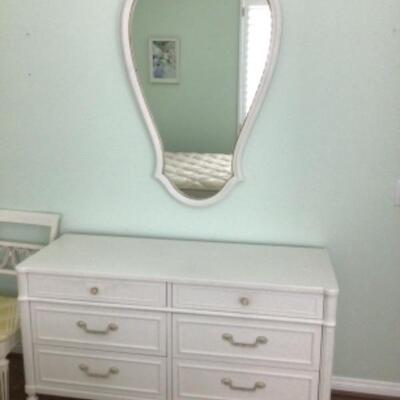 White dresser, $45 Mirror $15