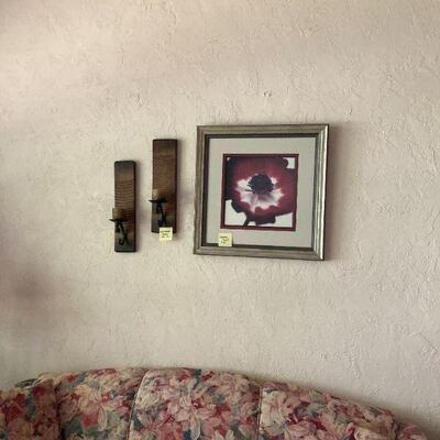 Candle sconces & picture