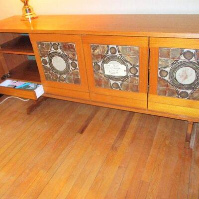 BUY IT NOW MCM TILED FRONT CREDENZA