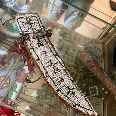 Early Cheyenne beaded sheath