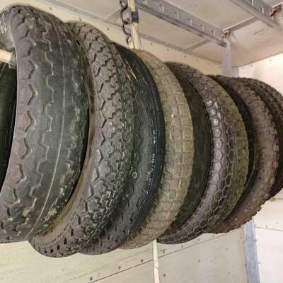#126 • Approximately Twelve Motorcycle Tires