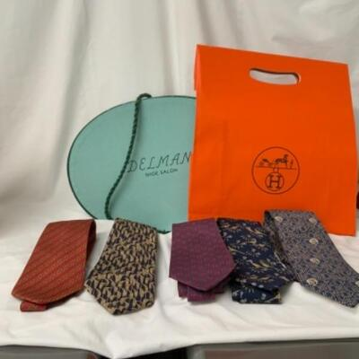 Vintage Fashion and Accessories Over 40 Hermes Ties in Pristine Condition $35.00 Each  Each Participating Family Has Sent Photos of What...