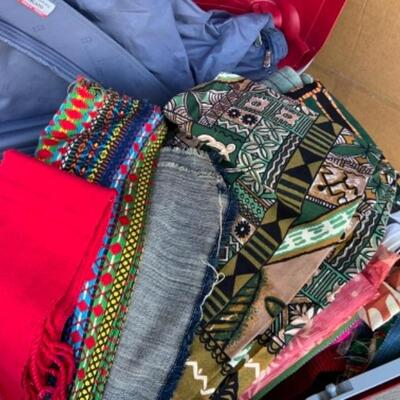 Yards and yards of imported fabric and material