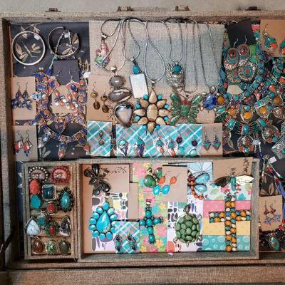 New statement jewelry from Tibet with genuine stones, all 50% off original prices!