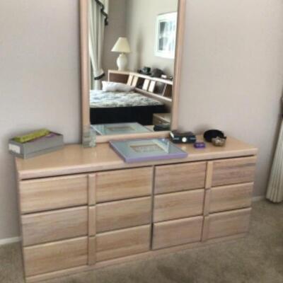 Dresser and mirror $75